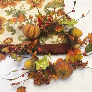 Autumn Table Runner & Candle Ring Garland Bundle